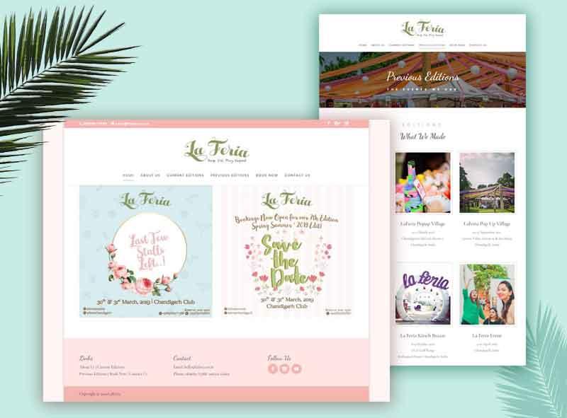 Laferia Events Website