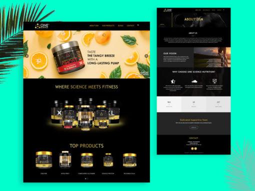 OneScienceNutrition product website